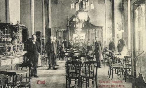 Arad:Központi kávéház belseje,1908.