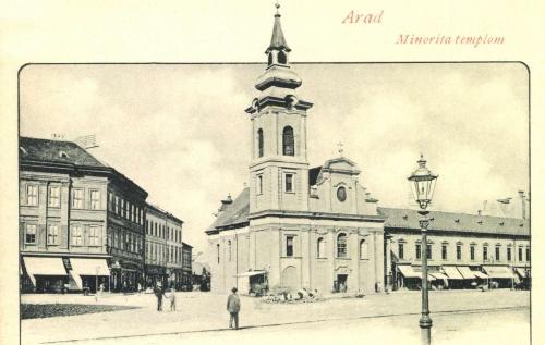 Arad:Minoriták régi temploma,1900 körül.