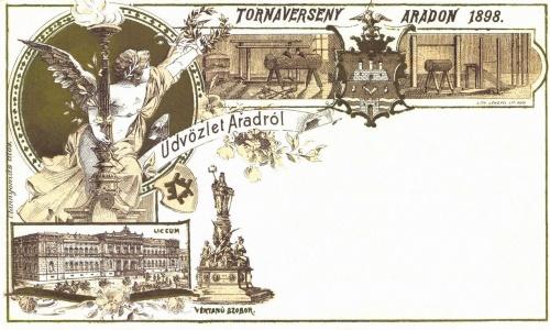 Arad:tornaverseny Aradon,1898-ban.