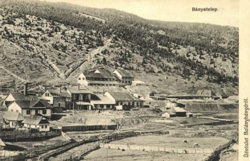 Balánbánya:látkép a bányateleppel,1914.