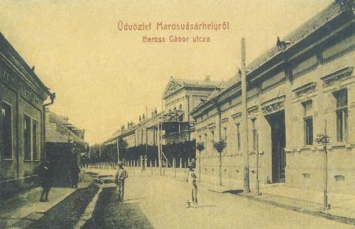 Baross Gábor utca és a Székelyföldi Iparmúzeum,1907. (kiadó:Weisz Lipót,Bp.)