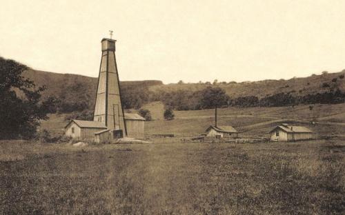 Bázna:földgáz kút,1915.