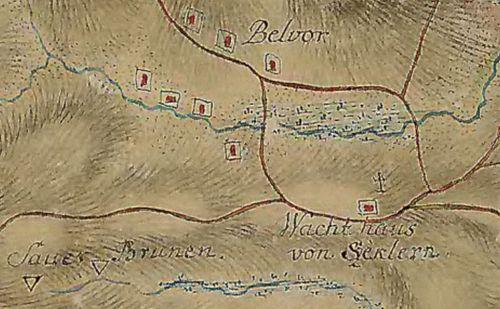 Bélbor (Bélvor):katonai térkép 1769-1773 között készült.