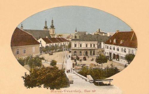 Marosvásárhely:Bem tér a lépcsővel.1911