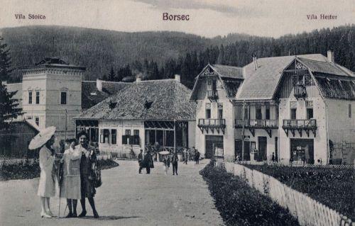Borszék:Remény szálló,Stoica és Reiter villa.1928