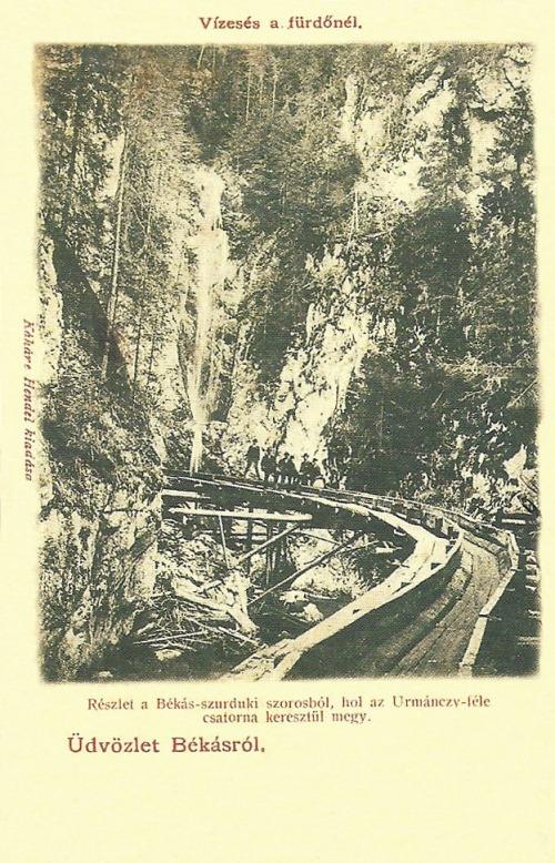 Békás:Urmánczy Nándor féle csatorna a békási szorosban.1903