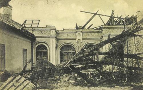 Beresztelke:Bánffy kastély romjai vihar után,1912 május 13.
