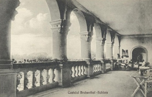 Bethlenszentmiklós:Bruckental kastély terasza.1912