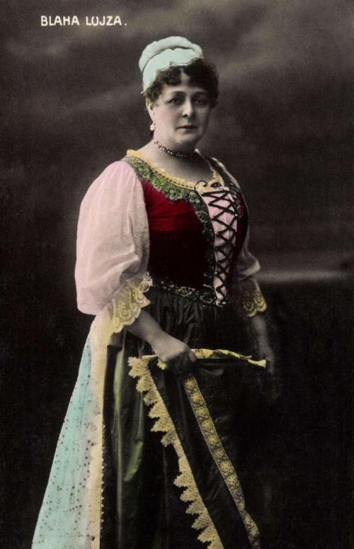 Blaha Lujza színésznő előadása Borszéken,1882