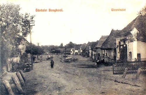 Bonyha:utca részlet.1908