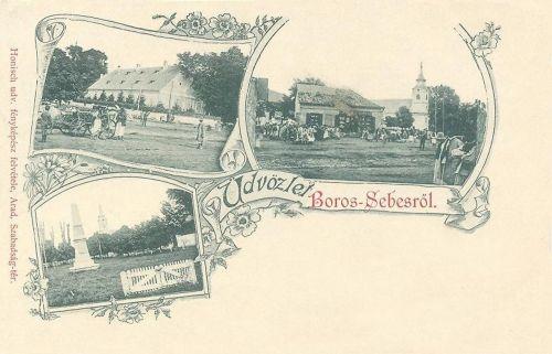 Borossebes:templom és milleniumi emlékmű.1899