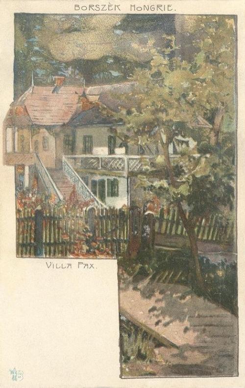Borszék:Pax villa.(kiadó:Ottmar Zieher,München)1899