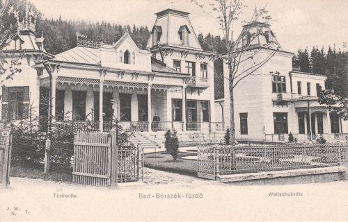 Borszék:Török és Vaitsuk villa a Szent István úton.1905