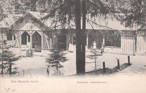 Borszék:Kossuth kút teniszezőkkel.1905