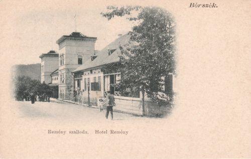Borszék:Remény szálló és étterem.1902
