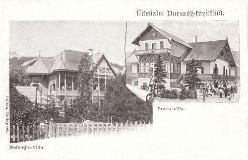 Borszék:Nefelejts és Posta villa.1903