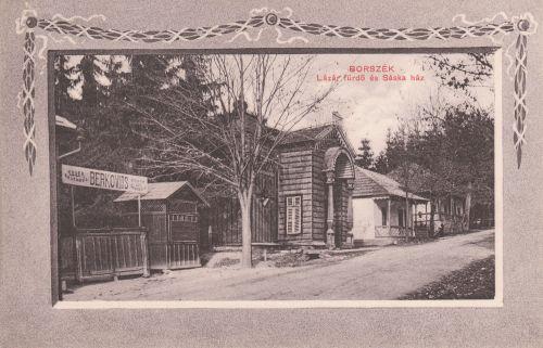 Berkovits koser vendéglője,Lázár fürdő és Sáska Kaetán háza a Szent István úton.1911