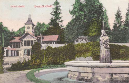 Főkút és zenepavilon és bárányos szökőkút a Deák Ferencz téren.1908