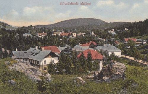 Borszék:balr a Posta villa,középen a Nefelejts.1913
