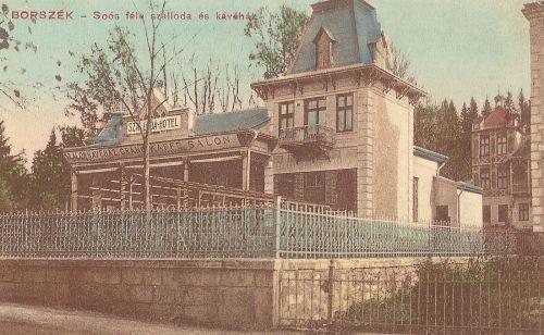 Borszék:marosvásárhelyi Soós Pál Grand szállodája és kávéháza(ma disco) 1911