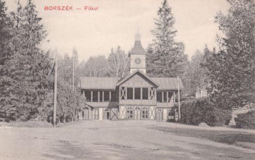 Borszék:Főkút és Erzsébet forrás a zenepavilonnal.1911