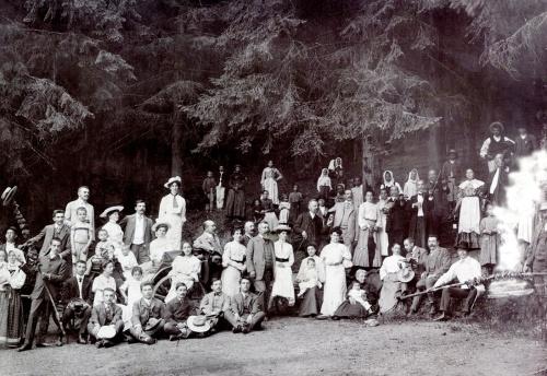 Borszék:fürdővendégek,1908-ban.