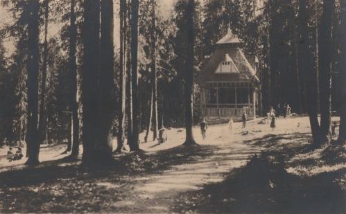 Borszék:ismeretlen épitmény,talán a Kossuth kút mellett lehetett?1938.