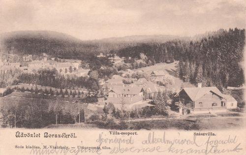 jobbra a Szász villa.1901