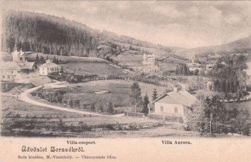 Jókai út,balra az Emmausz(Cziffra) villa mellette az Irén(Bagolyvár)nyaraló.1901