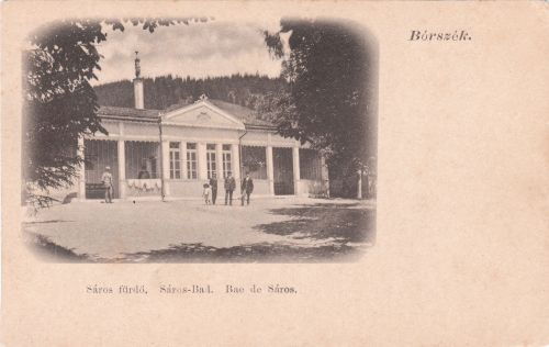 Borszék:Ó-Sáros fürdő,tetején a Vénusz szobor.1902