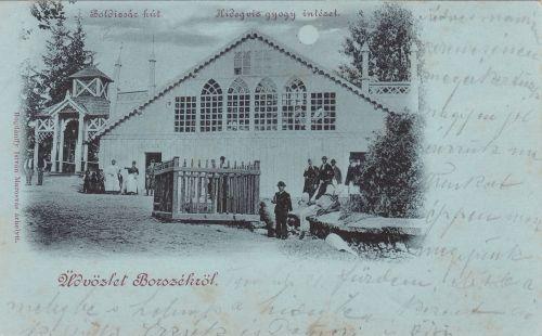 Borszék:Hidegviz Gyógyintézet,Zuhany fürdő.1899