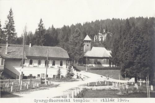 Gyergyóborszék:templom és villák,balra a casino.1940