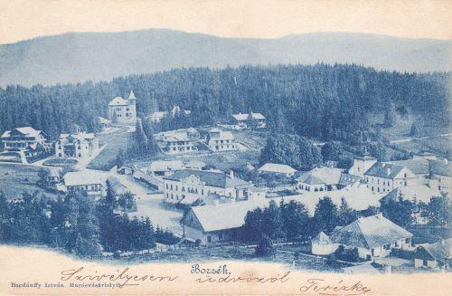 látkép az Emlék tér felől,Excelsior,Csiky,Urmánczy,Száva,Csibi,Szász,Siklódi villák.1899