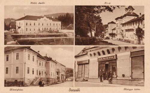 Községháza,régi Mozi,Hangya Fogyasztási Szövetkezet(ma Kultúrház),1943.
