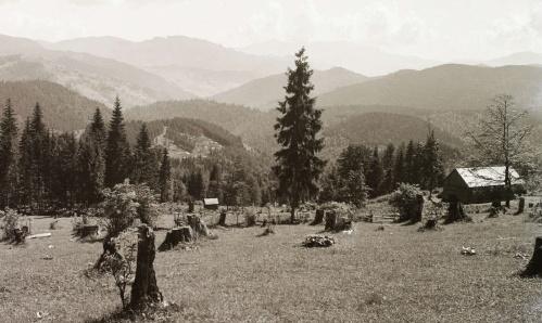 Látkép Bükkhavasról a Csalhó-hegység és Veres-kő felé,1941-ben.