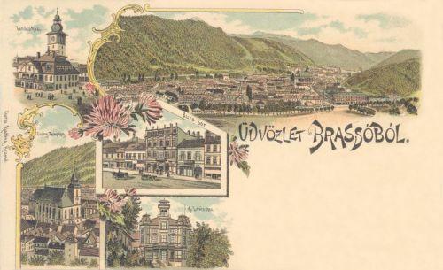 Brassó,litográfia 1899