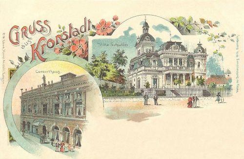 Brassó,lito,Schuller villa,Koncert terem. 1900