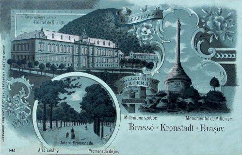 Brassó-Kronstadt-Brasov:kőnyomat.1898
