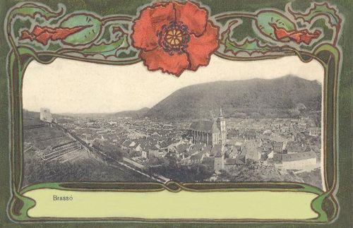 Brassó,látkép a Fekete templommal 1901