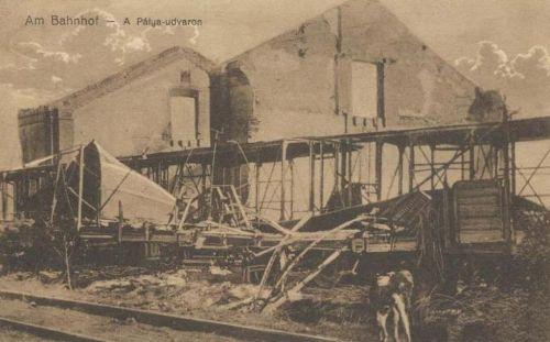 Brassó:vasútállomás (pályaudvar) a románok betörése után.1916