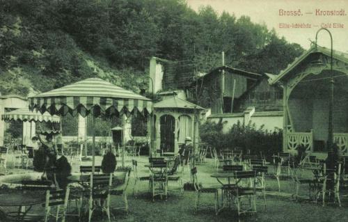 Brassó:Elite kávéház kerthelyisége,1909.