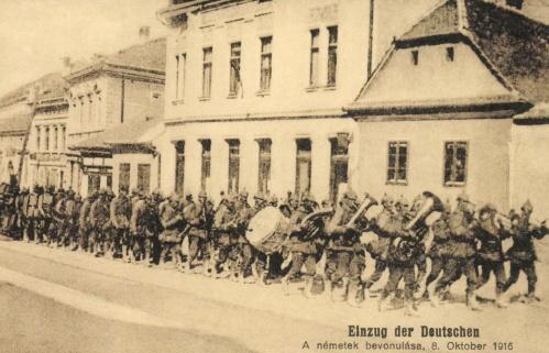Brassó:német csapatok bevonulása október 8-án,1916.