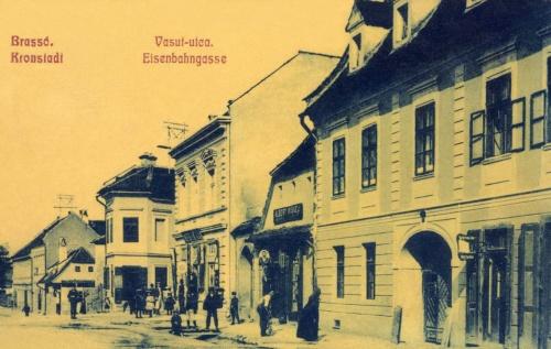Brassó:vasút utca,(Eisenbahngasse)1908.