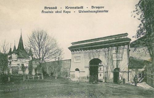 Brassó:Árvaház utcai kapu.1911