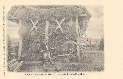 Ákosfalva:Makkai Zsigmond székely országgyülési képviselő otthon.1900