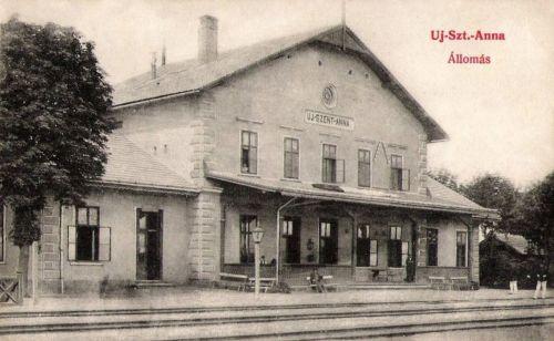 Újszentanna:vasútállomás.1908