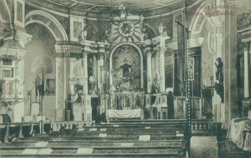 Csatád:katolikus templom belseje.1912