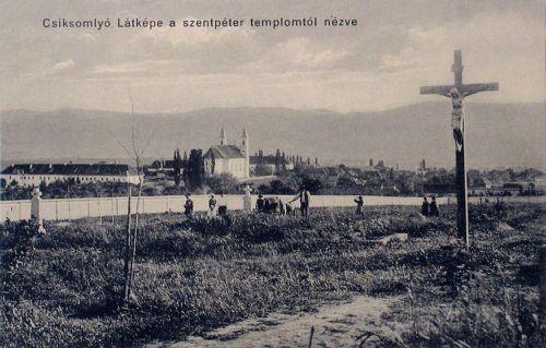 Csiksomlyó:látkép a Szent Péter templomtól nézve.1912