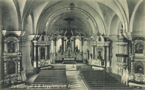 Csiksomlyó:római ktolikus kegytemplom belseje,1911.