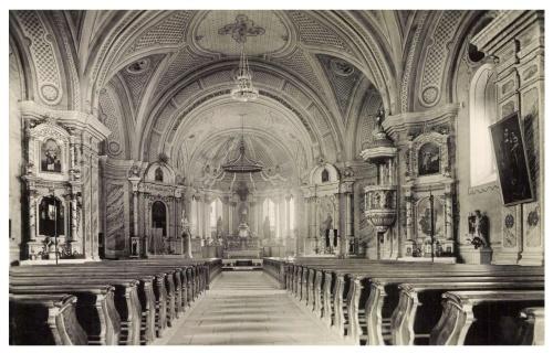 Csiksomlyó:templom belseje,1943.